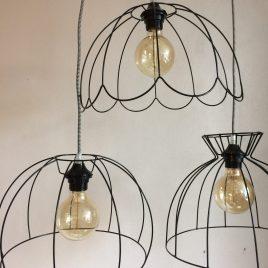 Hanglampen met open frame