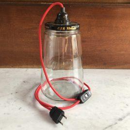 Kesbeke potlamp rood snoer